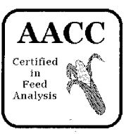 AACC Certified in Feed Analysis